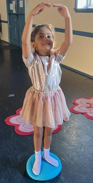 A Child Performing Ballet In A Sydney Dance Studio